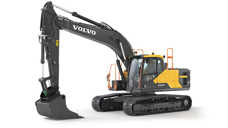 The new EC200E crawler excavator